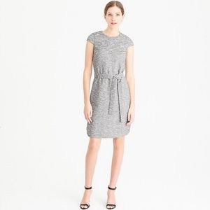 J. CREW Belted Dress in Black and White Tweed